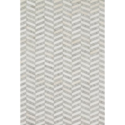 Winnett Hand-Woven Gray/Ivory Area Rug Rug Size: Rectangle 5 x 76