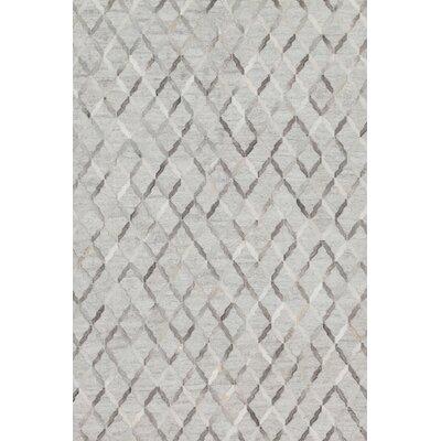 Dorado Hand-Woven Gray Area Rug Rug Size: 93 x 13