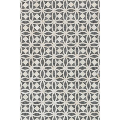 Winnett Hand-Woven Graphite/Ivory Area Rug Rug Size: Rectangle 79 x 99