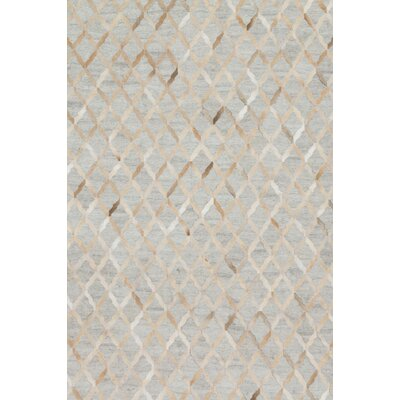 Winnett Hand-Woven Gray Area Rug Rug Size: Rectangle 79 x 99