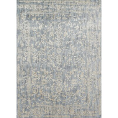 Abelardo Light Blue/Ivory Area Rug Rug Size: Rectangle 53 x 78