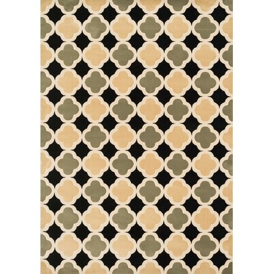 Goodwin Black/Sage Area Rug Rug Size: 23 x 39