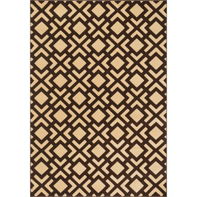 Dann Gold/Brown Area Rug Rug Size: Rectangle 23 x 39