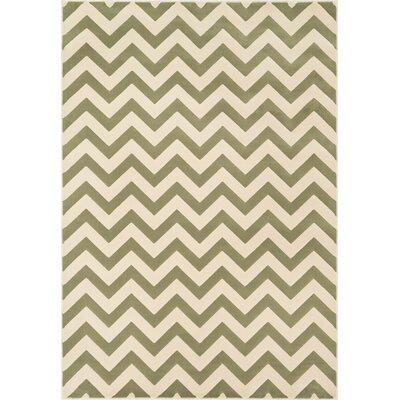 Dann Ivory/Sage Area Rug Rug Size: Rectangle 23 x 39