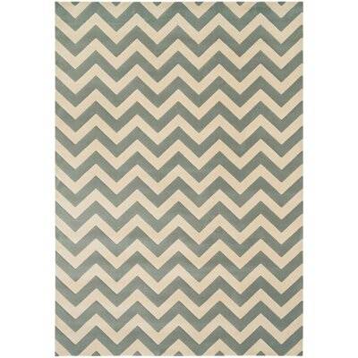 Goodwin Cream/Green Area Rug Rug Size: 23 x 39