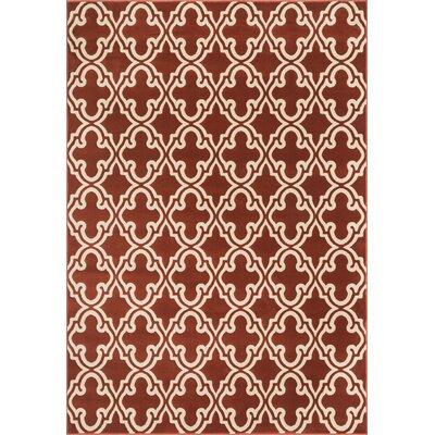 Goodwin Red Area Rug Rug Size: Rectangle 23 x 39