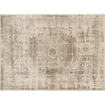 Adelbert Oriental Sand Area Rug Rug Size: Rectangle 37 x 57