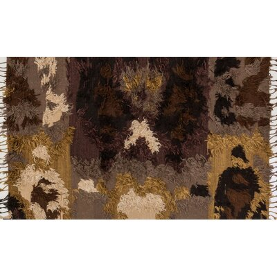 Benson Hand-Woven Walnut Area Rug Rug Size: Rectangle 36 x 56