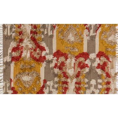 Benson Hand-Woven Camel/Sunset Area Rug Rug Size: Rectangle 36 x 56