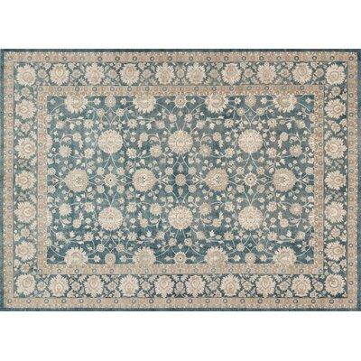 Adelbert Blue/Beige Area Rug Rug Size: Rectangle 53 x 76