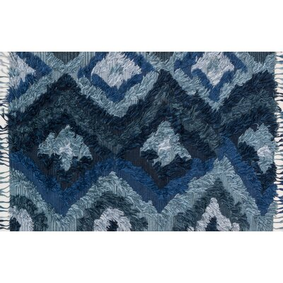 Benson Hand-Woven Indigo Area Rug Rug Size: Rectangle 36 x 56