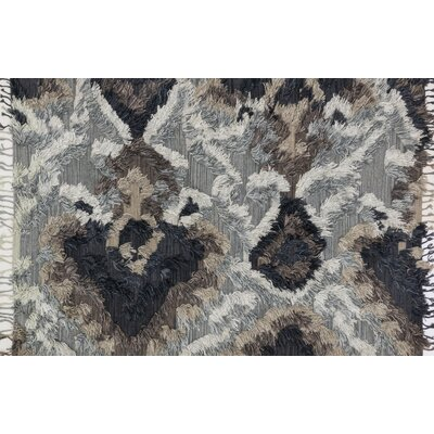 Benson Hand-Woven Granite Area Rug Rug Size: Rectangle 79 x 99