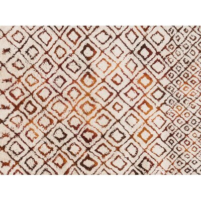 Benson Hand-Woven Ivory/Spice Area Rug Rug Size: Rectangle 36 x 56