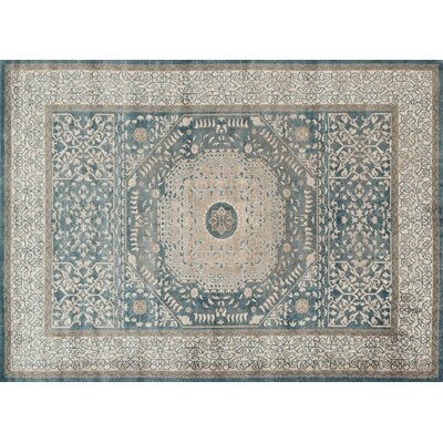 Adelbert Blue/Sand Area Rug Rug Size: Rectangle 37 x 57