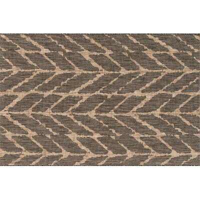 Bundy Charcoal/Mocha Indoor/Outdoor Area Rug Rug Size: Rectangle 22 x 39