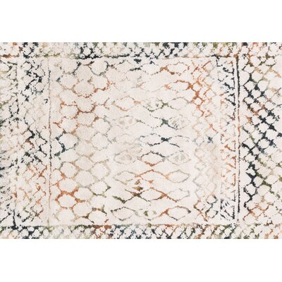 Benson Hand-Woven Ivory Area Rug Rug Size: Rectangle 5 x 76