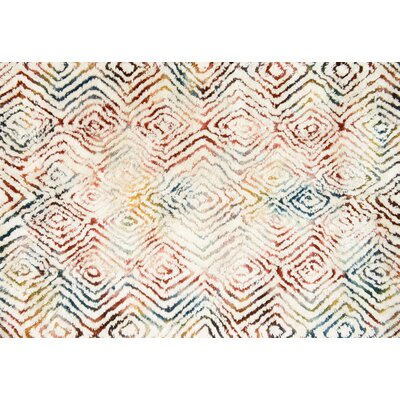Benson Hand-Woven Ivory/Prism Area Rug Rug Size: Rectangle 79 x 99