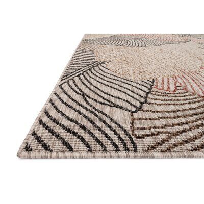 Newport Beige Indoor/Outdoor Area Rug Rug Size: 53 x 77