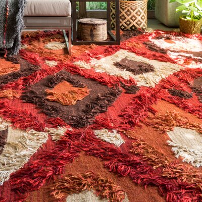 Benson Hand-Woven Spice Area Rug Rug Size: Rectangle 36 x 56