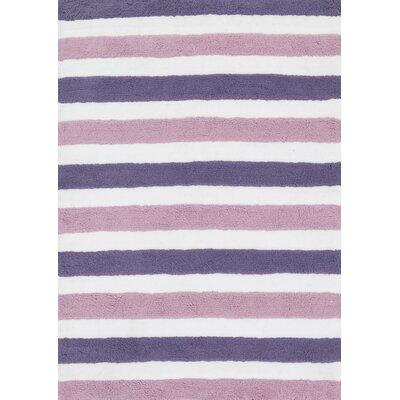 Lola Shag Plum/Lilac Area Rug Rug Size: 5 x 7