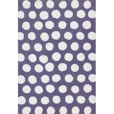 Lola Shag Plum/White Area Rug Rug Size: Rectangle 3 x 5