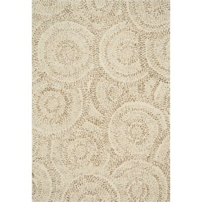 Zager Hand-Tufted Wool Ivory Area Rug