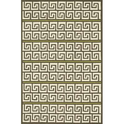 Danford Hand-Woven Brown/Green Area Rug