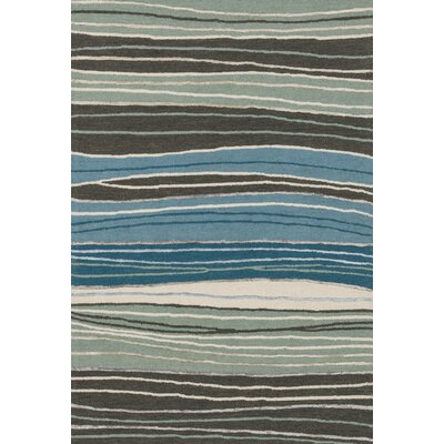 Kirkbride Hand-Tufted Gray/Blue Area Rug