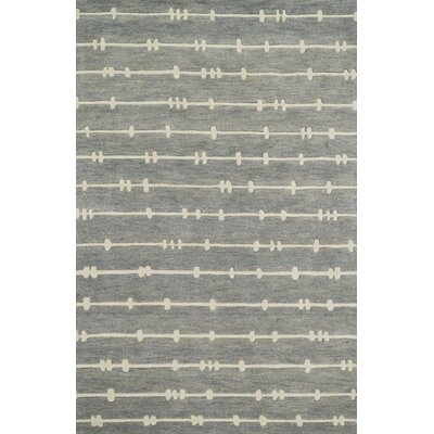 Nova Hand-Tufted Gray/Ivory Area Rug
