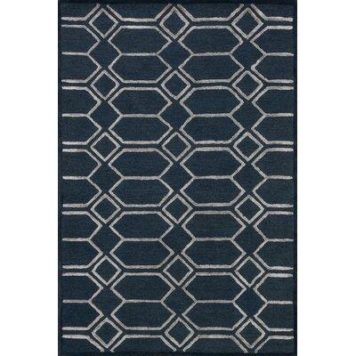Kirkbride Hand-Tufted Indigo/Silver Area Rug