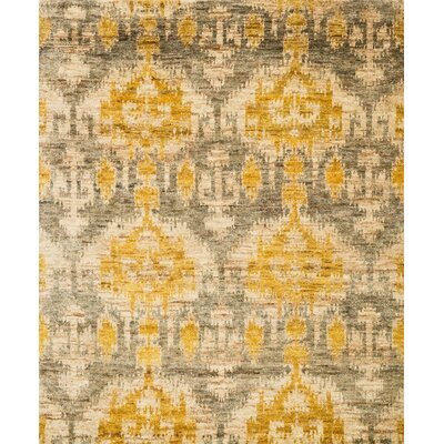 Xavier Hand-Knotted Gray/Gold Area Rug