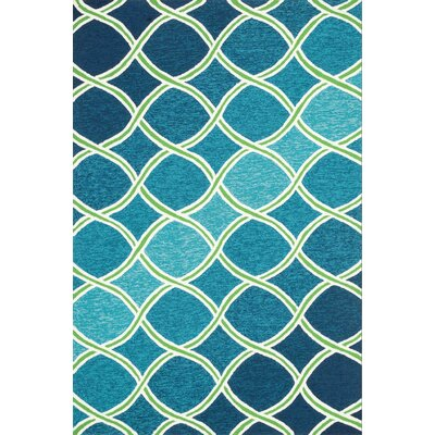 Venice Beach Handmade Blue/Green Indoor/Outdoor Area Rug