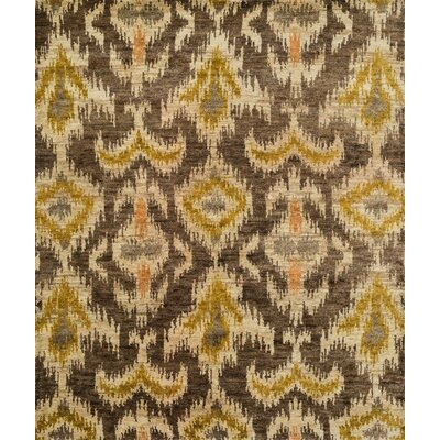 Xavier Hand-Knotted Coffee/Beige Area Rug