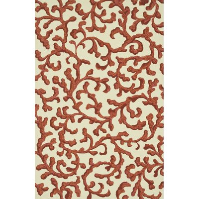 Venice Beach Handmade Ivory/Coral Indoor/Outdoor Area Rug