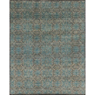 Claussen Hand-Knotted Blue/Gray Area Rug