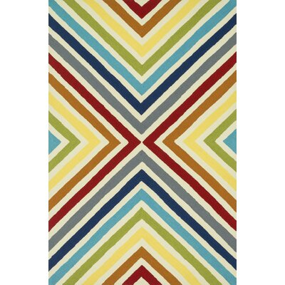 Palm Springs Hand-Woven Yellow/Red Area Rug