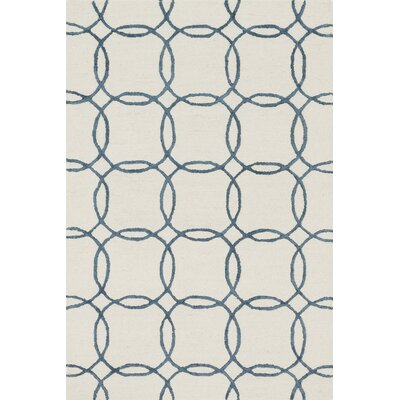 Panache Hand-Tufted Ivory/Blue Area Rug