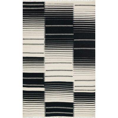 Rio Hand-Woven Black Area Rug