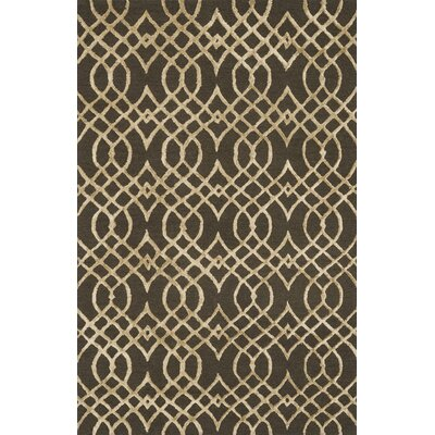 Panache Hand-Tufted Chocolate/Khaki Area Rug