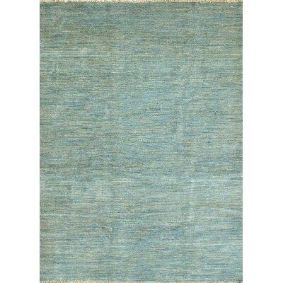 Danek Hand-Knotted Blue Area Rug