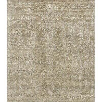 Pearl Hand-Knotted Stone/Pewter Area Rug