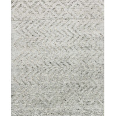 Pamrapo Hand-Knotted Silver Area Rug
