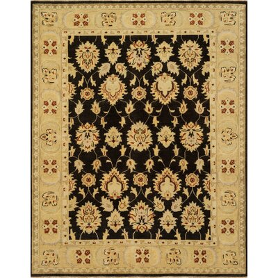 Vernon Hand-Knotted Black/Gold Area Rug