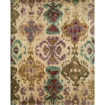 Xavier Hand-Knotted Beige Area Rug