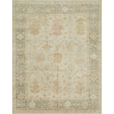Abelard Hand-Knotted Wool Stone/Storm Area Rug Rug Size: Rectangle 4 x 6