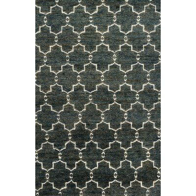 Palumbo Hand-Knotted Midnight Area Rug