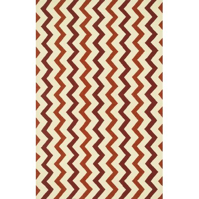 Palm Springs Hand-Woven Red/Rust Area Rug