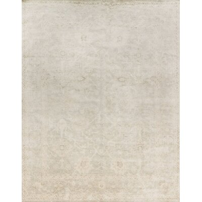 Crowe Hand-Knotted Fog Area Rug