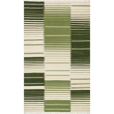 Rio Hand-Woven Green Area Rug