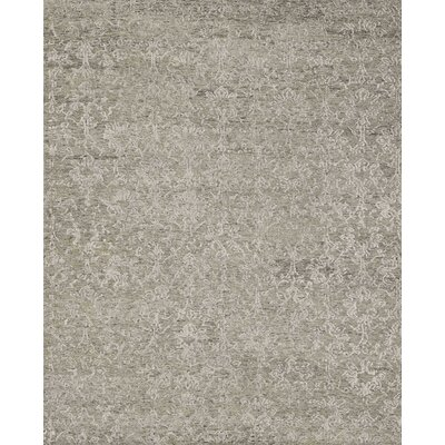 Abramo Hand-Knotted Taupe Area Rug